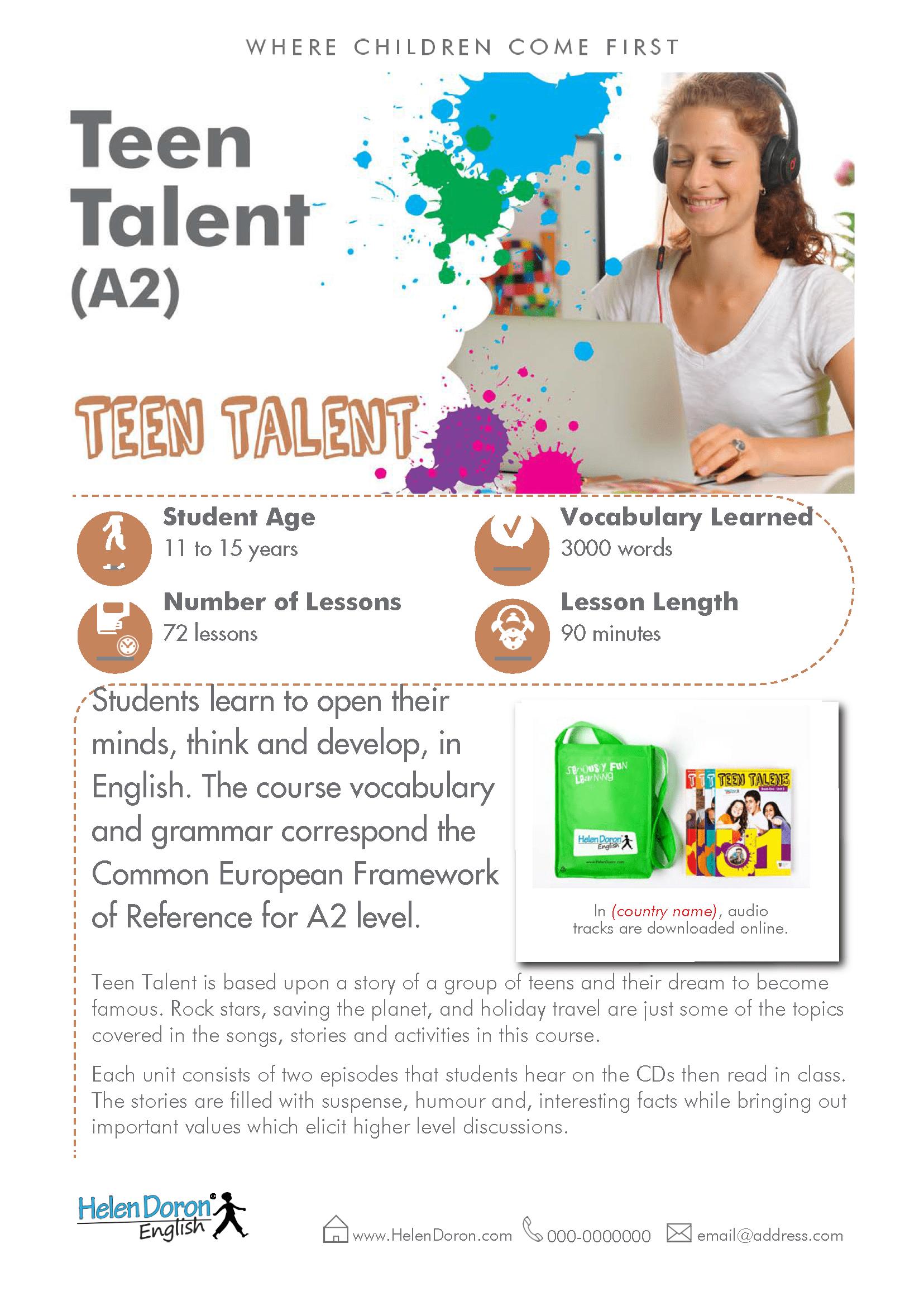 Parsisiųsti - Teen Talent (A2)